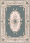 Dollhouse 1:24 Scale Aubusson Green Rug Dollhouse Miniature
