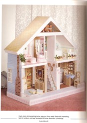 Plastic Canvas Doll House View 3