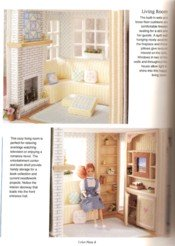 Plastic Canvas Doll House View 2