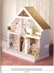 Plastic Canvas Doll House View 4