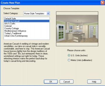 Home Designer Create New Plan Window