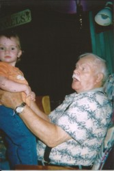 Dad with one of his great grandchildren