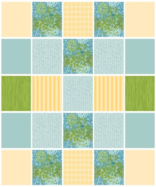 Comforter Top Pattern Piece