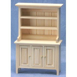 Dollhouse Unfinished Welsh Cabinet