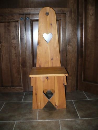 Decorative seat in it's original size