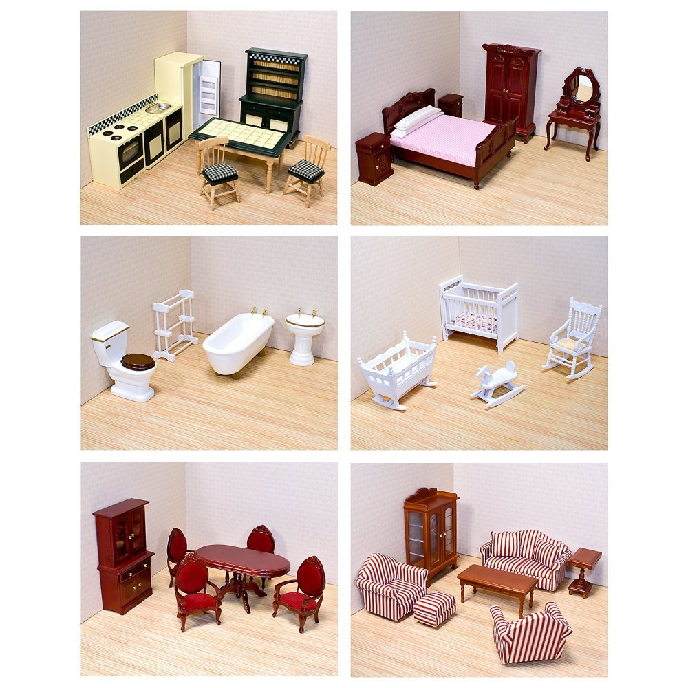 Variety of Dollhouse Furniture