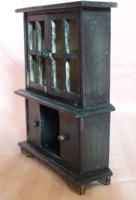 Completed Dollhouse Hutch Cabinet