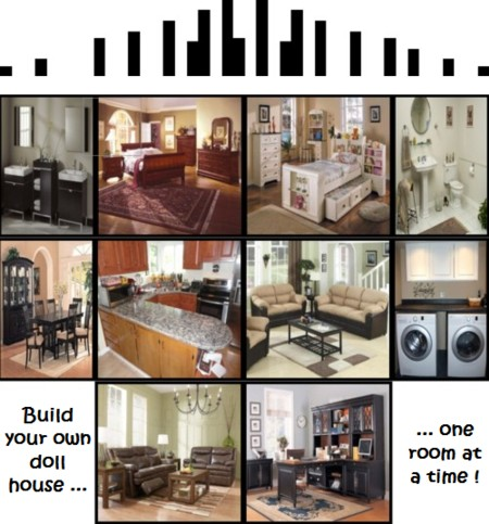 Build your own doll house one room at a time