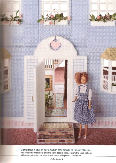 Plastic Canvas Doll House: Sought after because of its unique qualities
