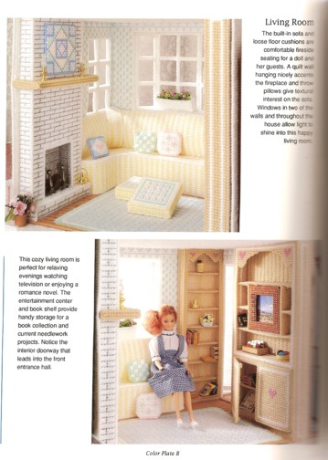 Plastic Canvas Doll House: Sought after because of its