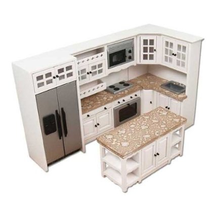 6-Pc. White and Stainless Kitchen