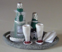 Miniature Wine Bottles with Bibs for Your Favorite Fashion Doll