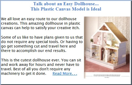 Go to Plastic Canvas Dollhouse