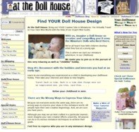 at-the-Doll-House.com Home Page example of a three (3) column layout