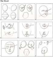 9 steps pictured to create your doll.